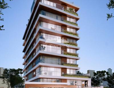 Cobertura duplex Agua verde, face norte, 4 suítes, 257 m² privativos, 4 vagas de garagem.