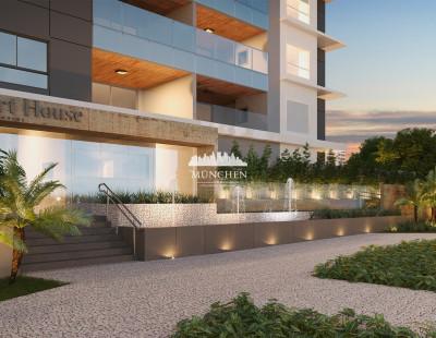 Cobertura duplex art house, juvevê/cabral, 428 m² privativos, 3 suítes e 4 vagas de garagem