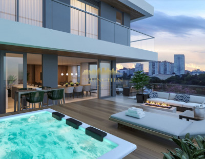 Cobertura duplex MIRAGE SILVA JARDIM, Batel/Agua verde, 3 suítes, 257 m² privativos, 4 vagas de garagem