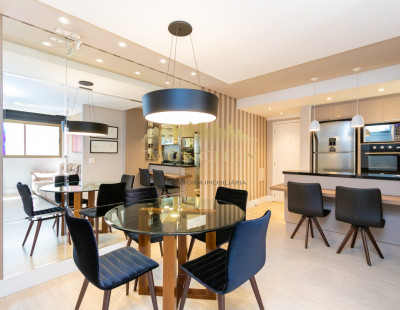 Apartamento garden, monde champagnat, Bigorrilho, face norte, mobiliado, 99 m² privativos, 3 dormitórios, 1 suíte, 1 vaga de garagem.