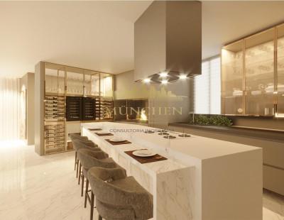Apartamento Carmen agua verde/Batel, 4 suítes, 240 m² privativos, 4 vagas de garagem